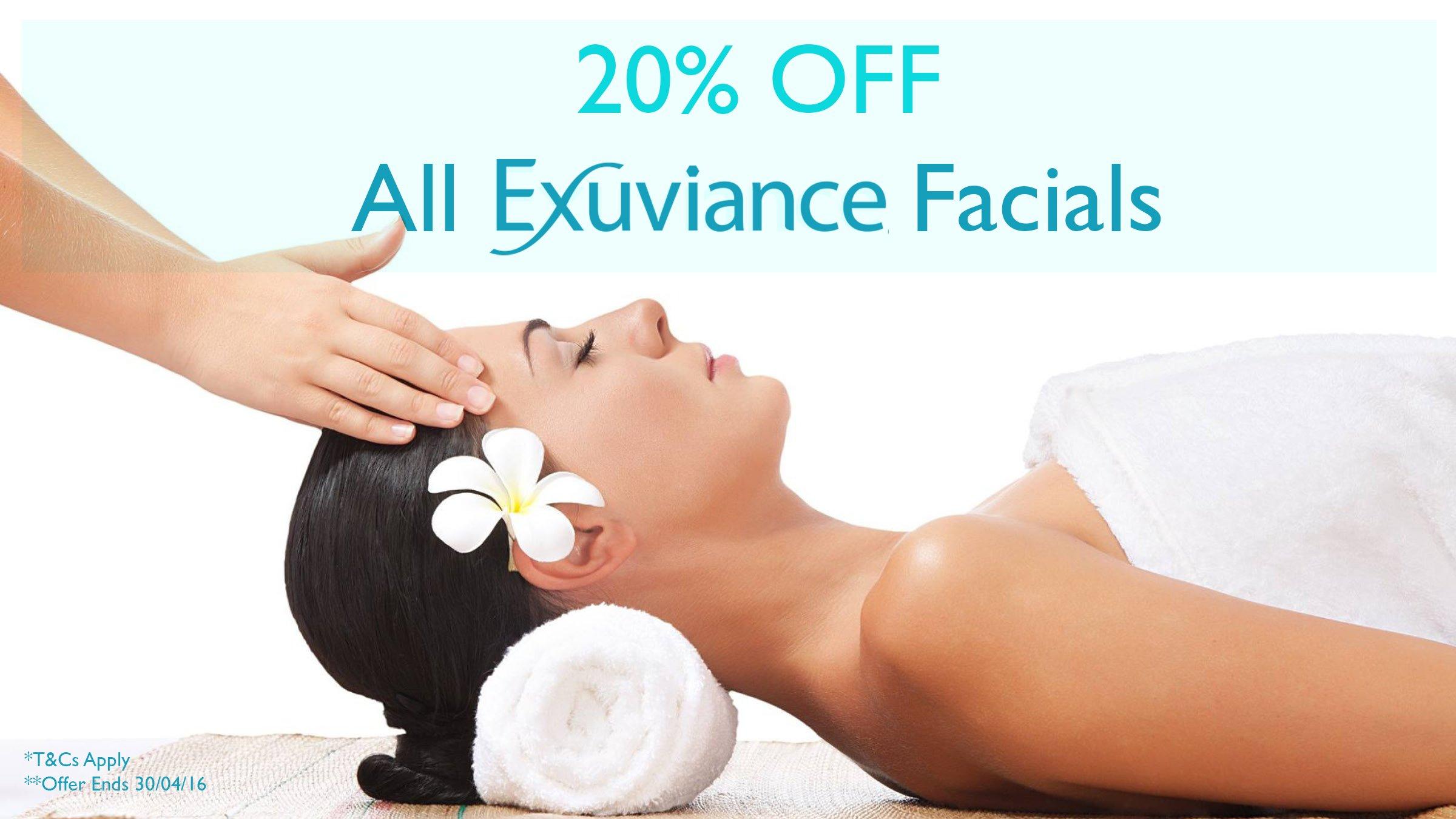 20% OFF Exuviance Facials in April!