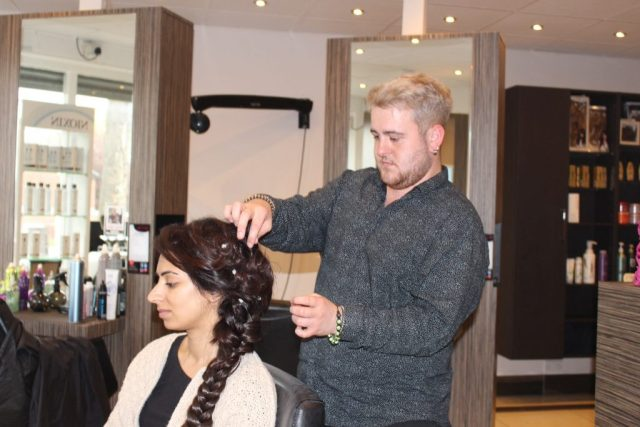 Hairstyling at Revive hair salon in Hale & Altrincham