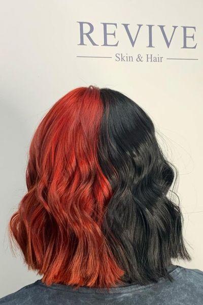 RED HAIR COLOUR AT REVIVE HAIR SALON, ALTRINCHAM