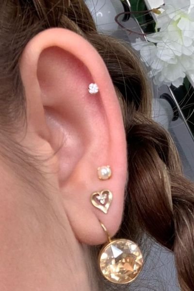Ear piecing at Revive beauty salon in Altrincham