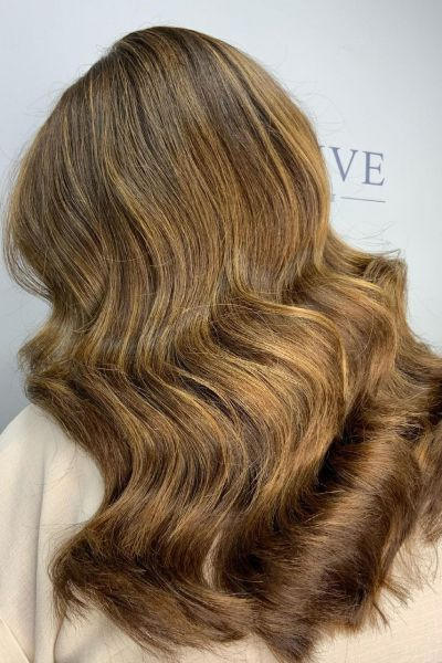 Balayage hair colour at Revive hairdressers near Hale